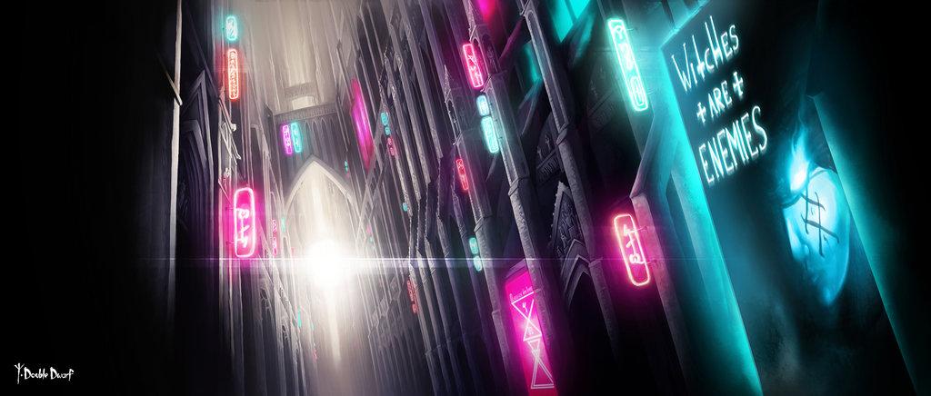 Cyberpunk Cathedral