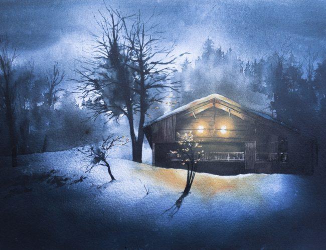 Savoie - chalet nocturne